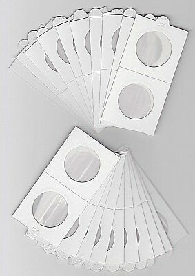 """LIGHTHOUSE 30mm SELF ADHESIVE 2""""x 2"""" COIN HOLDERS x 20 - SUIT FLORIN or 20 CENT"""
