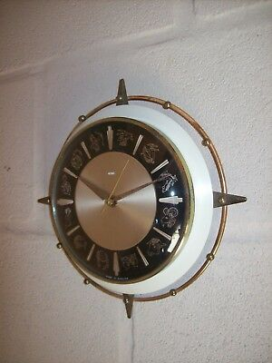Scarce Vintage Retro 1950s/1960s Metamec Astrological Wall Clock.