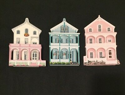 3 - Sheila's Pink House,Stockton Place, Steiner Cottage Cape May NJ Wood Replica
