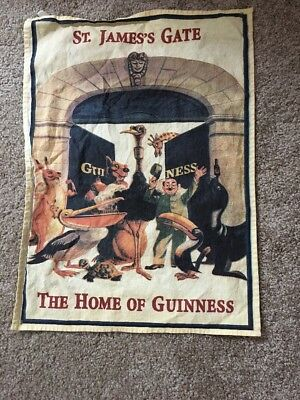 St. Jame's Gate The Home Of Guinness Beer Cloth Bar Towel *small Hole/stain*