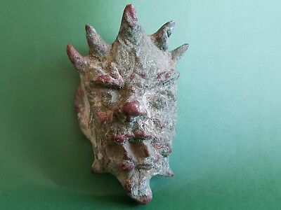 Druid Celtic Bronze Mask - 58x95mm, 370g