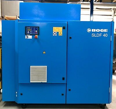 Boge SLDF40 Variable Speed Rotary Screw Compressor With Dryer! 37 - 178Cfm! 30Kw