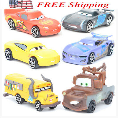 Lot Of 6 Disney Cars Pixar Diecast Toys Mater Lightning