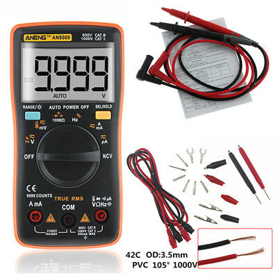ANENG AN8009 True-RMS Auto Range Digital Meter Multimeter AC/DC New US