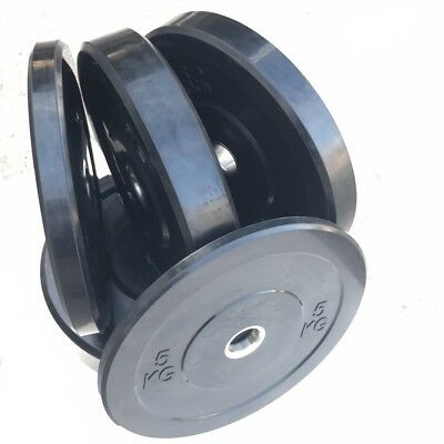 150kg Black Bumper Weight Plate Set For Crossfit Weightlifting Gym Training
