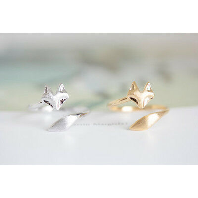 1 pcs Coil Elegant Trendy Ring Silver Color Simple Rose Gold Gift Fox Open Charm