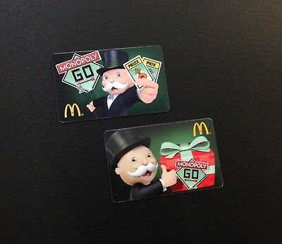 Mcdonald's Monopoly Gift Card / Arch Card --- Rare -- Lot Of 2Pcs.