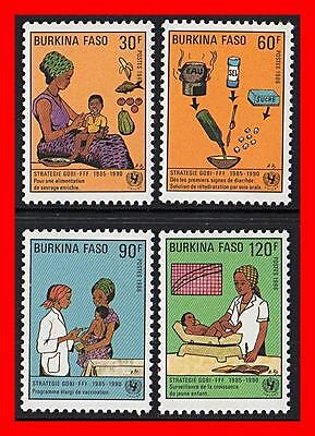 Burkina Faso 1986 Children Survival Mnh Cv$4.00 Medicine, Nurses, Food