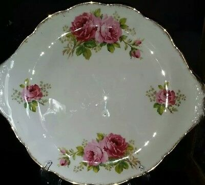 Royal Albert American Beauty Tabbed Cake Plate made in England