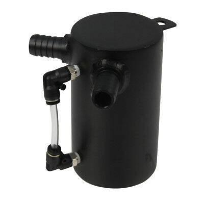 Universal 500ml Car Oil Catch Tank Breather Can & Filter 0.5L 9mm 12mm Fittings