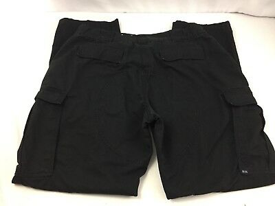 511 5.11 Tactical Series Black Cargo Pants Police X-Large 35 1/2-39 x 34 Long