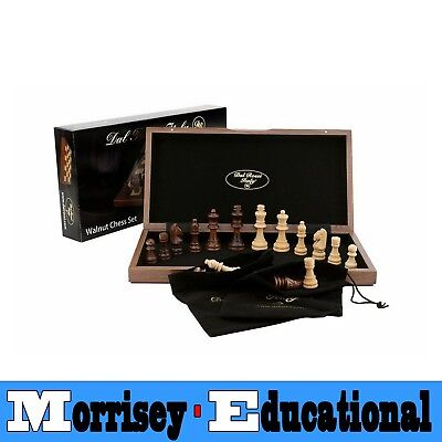 Dal Rossi Folding Walnut Chess Set 38cm - MORRISEY EDUCATIONAL