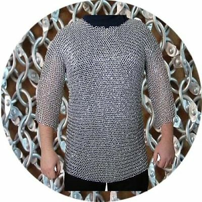 Aluminum New Brand Armour Chain mail 9 mm Round Riveted Half Sleeve XL Size