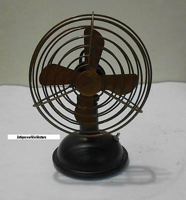 """Nautical Vintage Working Table Fan Collectible in Antique Brass 6"""" Antique Fan."""