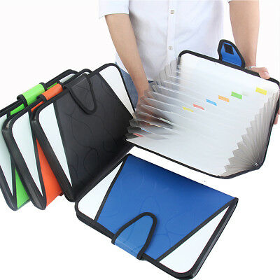 13 Pockets Expanding File Folder Works Accordion A4 Document Organizer