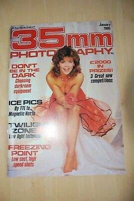 Vintage 35mm PHOTOGRAPHY Magazine January 1985 in colour