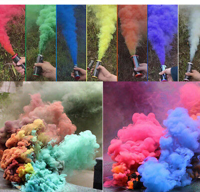 Colorful Smoke Effect Show Prop Pull Ring Bomb Stage Photography Aid Toy rs