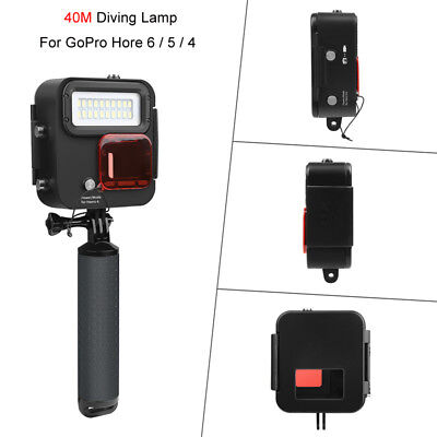 Underwater 40M Diving Light Protective Housing Case For Gopro Hore 6/5/4 Camera