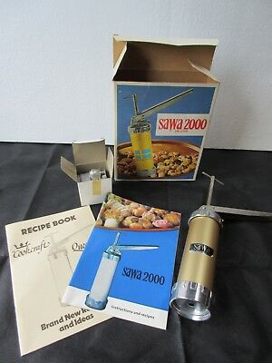 Sawa 2000 Cookie Press Vtg Unused Condition Cw Instructions And Dies Mint Sweden