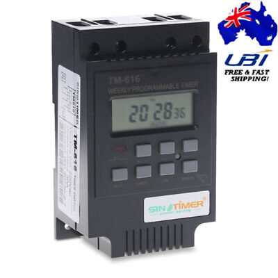 12V LCD Full Automatic Street Stage Light Time Control Switch Programmable Timer