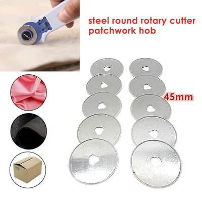 Lot 5/10X 45mm Replacement Rotary Cutter Blades Sewing Quilting Fabric Cut Blade