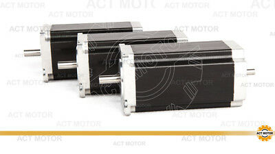 ACT MOTOR GmbH 3PCS Nema23 Stepper Motor 23HS2430B Dual Shaft 3A 112mm 425oz-in