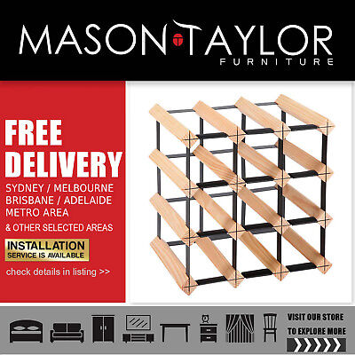 Mason Taylor 12 Bottle Timber Wine Rack