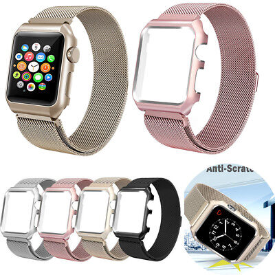 Milanese Loop Stainless Steel Mesh Adjustable Magnetic Wrist Band For iWatch