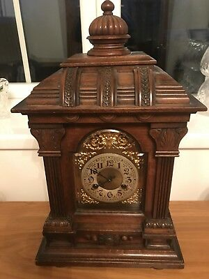 1900 German Victorian Oak Cased Bracket Clock. Offers Welcome.