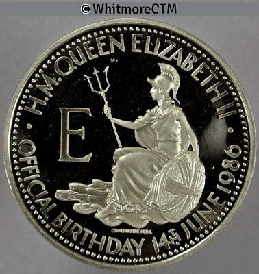 1986 Queen Elizabeth II 60th birthday Medal 39mm C-N Proof about FDC