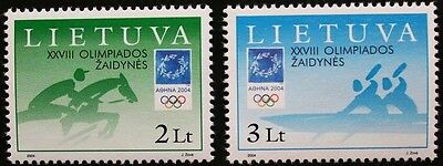 Olympic games, (Athens) stamps, canoeing 2004, Lithuania, SG ref: 841 & 842, MNH