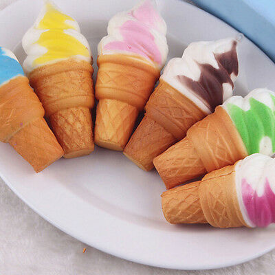 Soft Ice Cream Cone Squishy Slow Rising Scented Stress Reliever Squeeze Toys