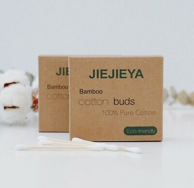100% Jiejieya Bamboo/wooden Cotton Buds Makeup Vegan/eco Friendly Biodegradable