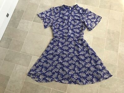 0967d19f825c Oasis Provence Ditsy High Neck Dress - Size 14 - BNWT seen on Holly  Willoughby