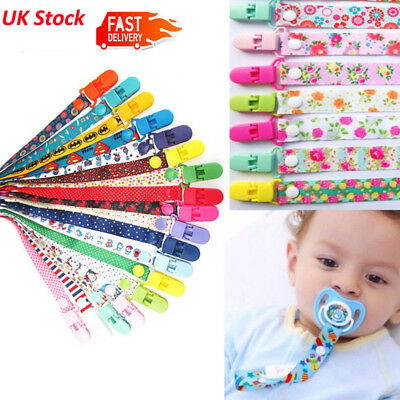 Dummy Clips BOYS/Girls Soother Clips Chain Holder Pacifier Strap Baby Gift New