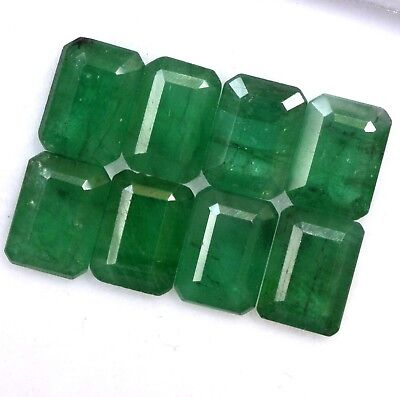 3.88 Cts Natural Emerald Octagon Cut 7x5 mm Lot 04 Pcs Calibrated Loose Gemstone