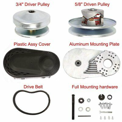 "10T #40/41/420 Go Kart Torque Converter Kit CVT Clutch 3/4"" Replaces 30 Series Q"