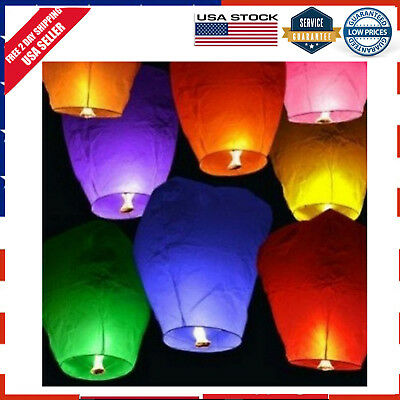 20-Pack Mix Color Chinese Paper Lanterns Sky Fire Fly Candle Lamp For Wist Party