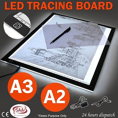 A2 A3 LED Slim Art Craft Drawing Tracing Tattoo Light Box Pad Board Lightbox CW