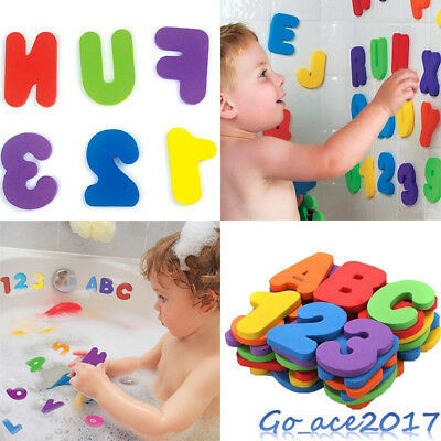 26 Letters 10 Numbers Foam Floating Bathroom Toys For Kids Baby Bath Floats UK