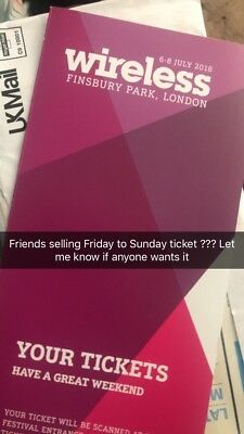 wireless tickets 2018 at Finsbury Park