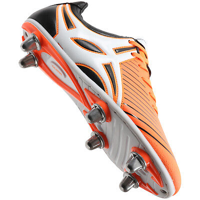 Clearance Line New Gilbert Rugby Evolution MK 2 Junior Rugby Boots Orange Size 2