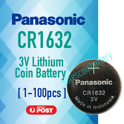 Genuine Panasonic CR1632 3v lithium Battery button cell coin f watches Stock Mel