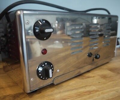 ROWLETT commercial stainless steel toaster, 6 slot, Exc cond,