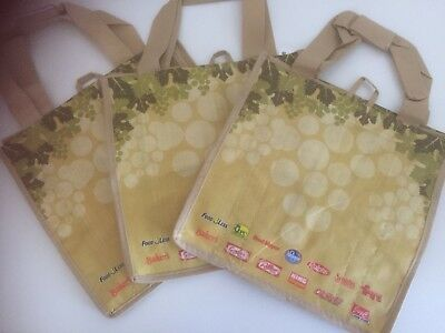 Lot of 3 Kroger Earthwise 6 Bottle Wine Tote/Carrier Bags Reusable Free Shipping