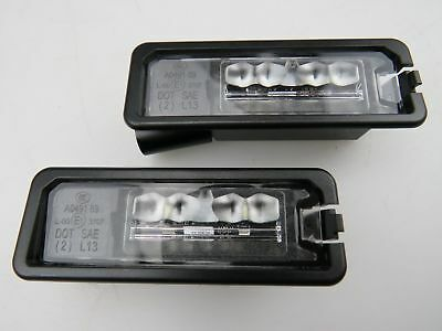 2x Genuine LED License Plate Lights 2pcs VW Golf Scirocco Passat 1K8943021D NEW
