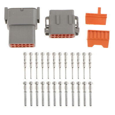 1 Set Waterproof Electrical Wire Cable 12Pin Way Connector Plug Terminal Kit