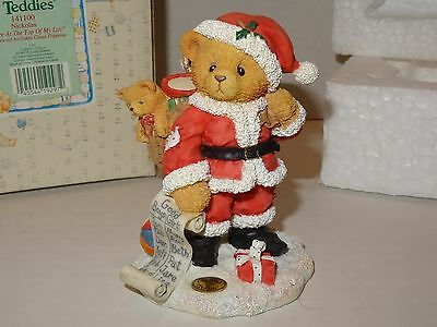 """1995 Cherished Teddies Nickolas """"you're At The Top Of My List"""" #141100"""