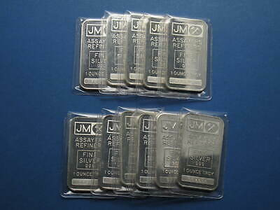 1981 Johnson Matthey 1oz Silver bullion Bar with serial number JM-3