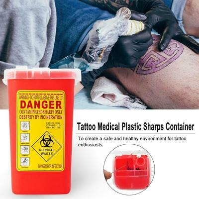 Tattoo Medical Plastic Sharps Container Biohazard Needle Disposal Waste Box A1R5